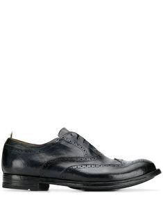 Officine Creative slip-on brogues - Blue Officine Creative, Brogues, Leather Slip Ons, Brand You, Oxford Shoes, Dress Shoes, Navy Blue, Women Wear, Mens Fashion
