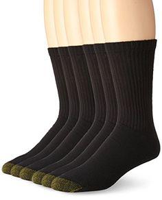 Gold Toe Men's Cotton Crew Athletic Sock, 6-Pack