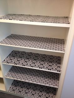 My New Pantry Shelves Lined With Wring Paper From Michaels 1 50 Per Roll Covered In Clear Adhesive Shelf Liner The Dollar More
