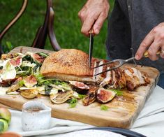 Roast pork belly recipe with fennel, radicchio and figs | Gourmet Traveller Roasted Pork Belly Recipe, Pork Belly Roast, Pork Roast, Fennel Recipes, Roasted Fennel, Chef Recipes, Salmon Burgers, Figs, Stuffed Peppers