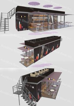 2015 latest design hydraulic system container coffee bar,mobile container bar, View container bar, KoolBox Product Details from Guangzhou Phenix Imp. Container Home Designs, Container Van, Shipping Container Restaurant, Shipping Container Buildings, Shipping Container Homes, Shipping Containers, Coffee Shop Design, Cafe Design, House Design