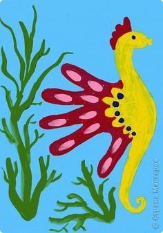 Урок рисования Отпечатки ладошек: Рисование дошкольников- чудесные ладошки! Гуашь. Фото 4