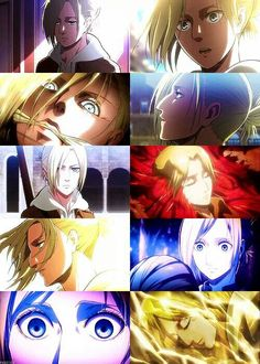 Annie Leonhardt ~ The BEST character. ^_^ My second favorite Armin, Mikasa, Levi X Eren, Dallas Winston, Female Titan, Annie Leonhart, Levihan, Lost Girl, Attack On Titan