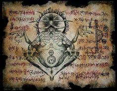 Lo siguiente es una colección de fragmentos (diseños) del Necronomicón.