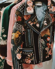 We absolutely adore this Embellished Leather Jacket from Gucci's SS16 Collection…