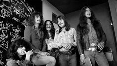 Die britische Rockband Uriah Heep im Mai 1974 in Stockholm. David Byron, The Byron, Uriah Heep Band, Stockholm, Rock Bands, Jazz, Blues, Classic Rock, Rock Music