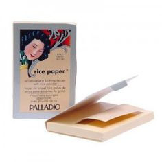Palladio Rice Paper-- instead of packing on more powder to cover shine, blot your face w/ a sheet of rice paper.  It will soak up the oils, so you wear less make-up.. and that's always a good thing.
