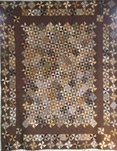 Items similar to Full Size Pinwheel Block Quilt in Light and Dark Neutral Colors on Etsy Quilting Thread, Longarm Quilting, Quilting Ideas, Neutral Quilt, Neutral Colors, Half Square Triangles, Squares, Pinwheel Quilt, Quilt Material