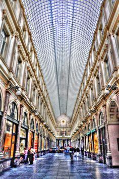 Galeria Royales St. Hubert, Brussels, Belgium, Belgique, Bruxelles, Bruselas, Bélgica
