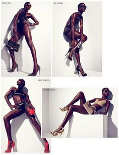 lamusenoire: The Ad Campaign: Jeneil Williams for Jimmy Choo Cruise