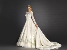 Inspired by Cinderella's own wedding gown in the upcoming live-action film Cinderella (March 13, 2015), bridal designer Alfred Angelo has revealed a limited edition wedding dress. The royally opulent gown is inspired by costume designer Sandy Powell's hand painted dress that Ella (Lily James) wears in the film, but re-imagined as an embroidered gown for [...]Continue reading...