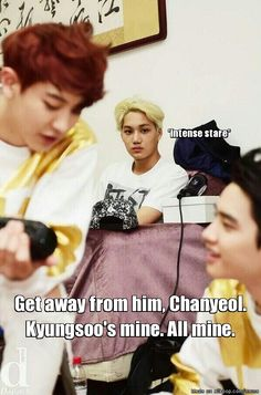 Jealous Kai ... Kaisoo - Exactly what I was seeing when I saw this picture