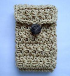 Receitas de Trico e Croche: Pap porta celular em crochê