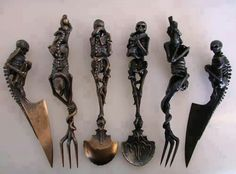 Skullery #silverware #skeletons