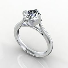1.00 ct Swarovsky Dianond     white Gold 18 kt Metal