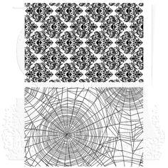 """Skulls & Cobwebs - Tim Holtz Cling Stamps 7""""X8.5"""" - PRE ORDER"""