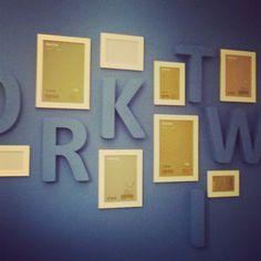 Pokoj mojego W. - już wkrótce całość dopełnią czarno-białe zdjęcia
