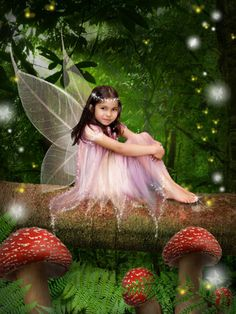 Little girl fairy