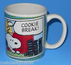 "Snoopy & Oreos ""Cookie Break"" Peanuts Collectors Coffee Mug, Gibson, Schulz"