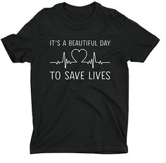 fe074b52e25 It's a Beautiful Day to Save Lives t Shirt Grey's Anatomy Women Tee ...