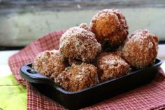 Apple Cider Doughnut Holes - perfectly light and lightly scented doughnuts with a crispy outer edge and sweet cinnamon sugar coating. #pastry #donut #doughnut #recipe