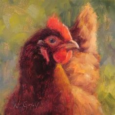 DPW Fine Art Friendly Auctions - Bea the Chicken by Naomi Gray