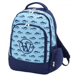 Finn Monogrammed Backpack perfect for him for back to school - tons of room  for books. BeauJax Boutique dd3208fe04