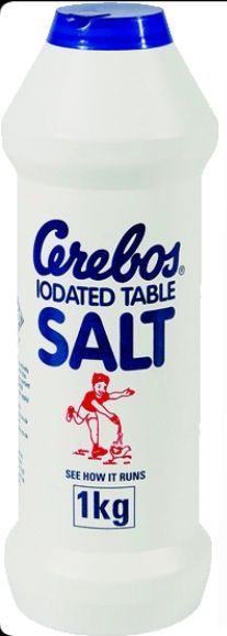We always used this salt easy to pour.