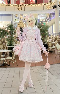 Angelic Pretty Crown Over Knee Socks, Qutieland Angelic Pretty Starnight Theater Replicas Pink, Offbrand Bunny Umbrella, Sweet Ticket  Costumed Headphones, Angelic Pretty Sugary Carnival Bow, Angelic Pretty Blouse, Angelic Pretty Sugary Carnival Cardigan,