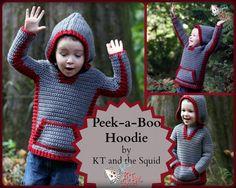 Peek-a-Boo Hoodie crochet pattern #Crochet #Crochetpattern