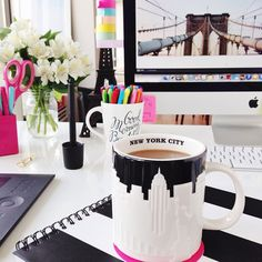Pretty Workspace | Home Office Details | Ideas for #homeoffice | Interior Design | Decoration | Organization