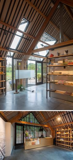 This barn-like building is home to a restaurant, a museum shop and space for the volunteers who give guided tours in the castle and around the estate. #Architecture