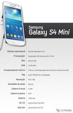"""Com um hardware que o coloca no topo dos smartphones intermediários, o S4 Mini traz, de quebra, a opção de você escolher entre ter conectividade 4G ou uma versão com suporte para dois chips GSM de operadoras diferentes. Confira, em nossa análise, o que achamos do """"irmão mais novo"""" do Samsung Galaxy"""