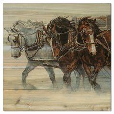 Winter Wind Horse Wall Art
