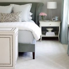 grey bedroom.  Follow us on #facebook:  http://www.facebook.com/MODEBayArea