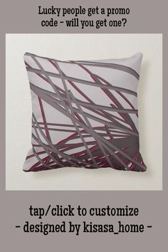 Gray and Burgundy Wine Modern Elegant Abstract Throw Pillow - tap to personalize and get yours #ThrowPillow #gray #burgundy #wine #modern #elegant Accent Pillows, Throw Pillows, Burgundy Wine, Gray Background, Custom Pillows, Knitted Fabric, Keep It Cleaner, Custom Design