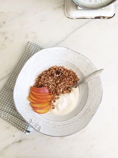 Simple pecan & vanilla bean granola