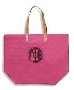 Gamma Phi Beta Jute tote.  Great Bid Day bag!  www.sassysorority.com