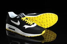 various colors 9749e 9e6b5 2014 Nike Air Max 87 Hommes Chaussures Noir Blanc Jaune Nike Air Max Running,  Nike
