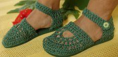 sandalia de croche com sola - Pesquisa Google