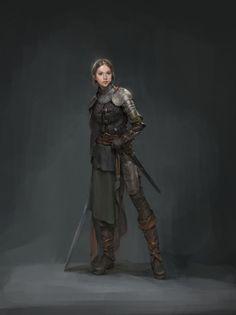 Character Concept by Kim Ssang : armoredwomen Fantasy Warrior, Fantasy Rpg, Fantasy Artwork, Dark Fantasy, Dnd Characters, Fantasy Characters, Female Characters, Fantasy Figures, Fantasy Character Design