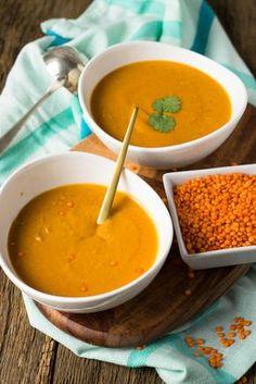 Echter Geheimtipp - Super lecker und einfach zuzubereiten - Rote Linsen Suppe mit Paprika, Kokosmilch und roten Linsen