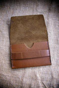 """""""Lucas"""" Handmade Slim Leather Wallet                                                                                                                                                                                 Más"""