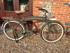 Photo by Patrick Lewis Military Style, Military Fashion, Cruiser Bikes, Bicycle Pedals, Old Bikes, Sidecar, Bike Design, Vintage Bicycles, Good Old