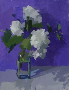 White Hydrangeas by Philip Richardson