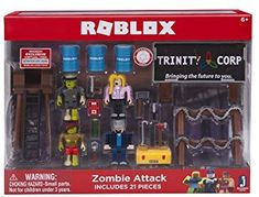 Amazon.com  Jazwares Roblox Zombie Attack Environment Set Standard  Toys    Games 90bdc0cd6ede