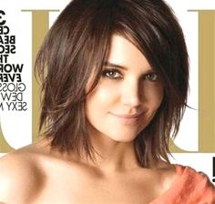 Hairstyles For Fat Faces, Cute Bob Hairstyles, Thin Hair Haircuts, Layered Bob Hairstyles, Bob Haircuts, Modern Haircuts, Modern Hairstyles, Woman Hairstyles, Katie Holmes Hairstyles