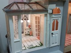 """Miniature conservatory from scratch, I made a removable panel to fill the """"opening"""""""
