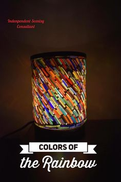 Beautiful Scentsy Colors of the Rainbow warmer made from recycled glass bracelets from India