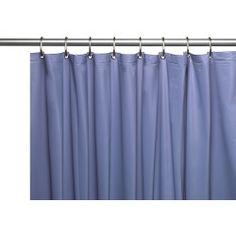 Ebern Designs Richborough Vinyl 10 Gauge Single Shower Curtain Liner with Metal Grommets and Reinforced Mesh Header Color: Slate Hotel Shower Curtain, Vinyl Shower Curtains, Shower Liner, Mold And Mildew, Slate, House Styles, Design, Home Decor